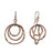 Lattice Trio Drop Rose Gold Earrings