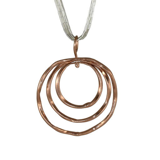 Lattice Trio Rose Gold Pendant