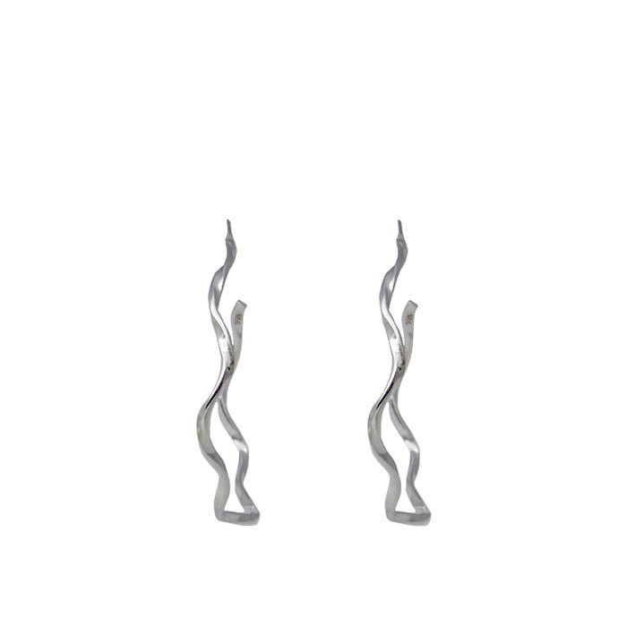 Lattice Hoop Single Strand Earring
