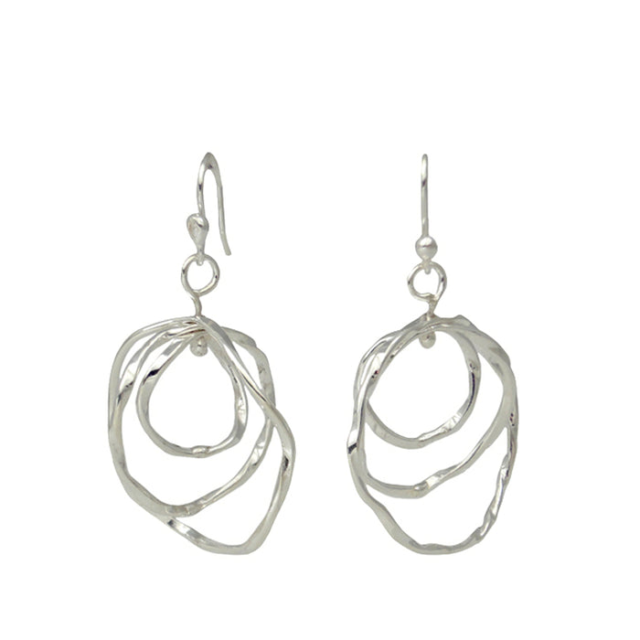 Lattice Trio Drop Earrings