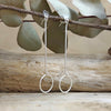 Minimalist Circle Drop Earrings