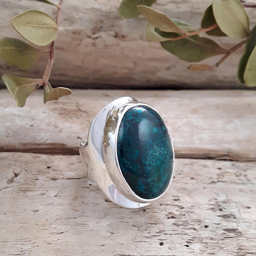 Monet Azurite Large Oval Ring