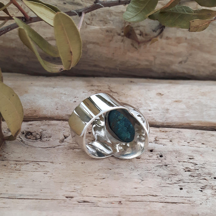 Monet Azurite Small Oval B Ring