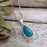 Monet Azurite Small Teardrop Pendant