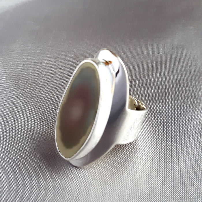 Monet Imperial Jasper M Oval Ring-B