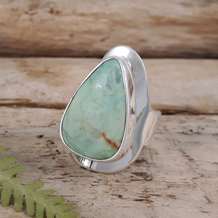Monet Spring Chrysocolla M Tri Ring