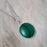 Monet Malachite M Pendant