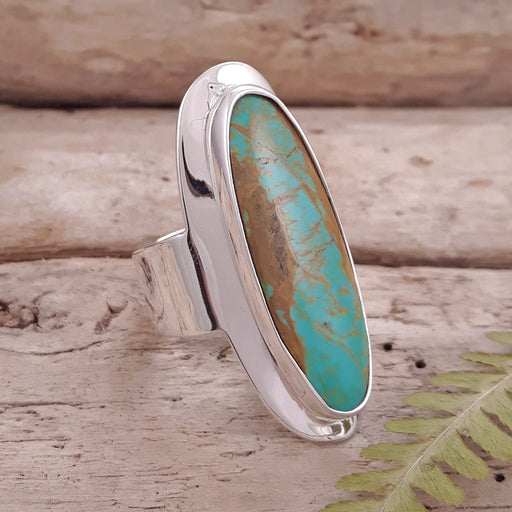 Monet Turquoise Oval L Ring A