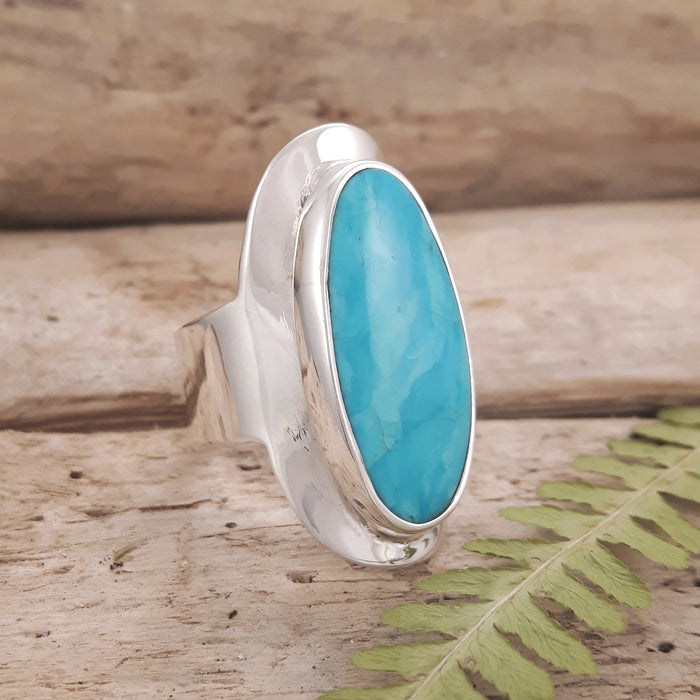 Monet Turquoise Oval L Ring B