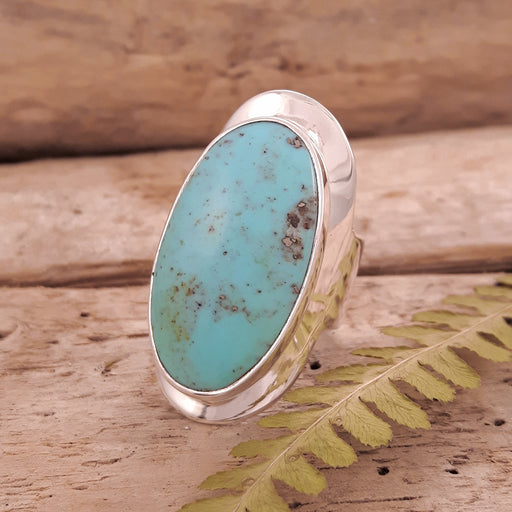Monet Turquoise Oval L Ring C