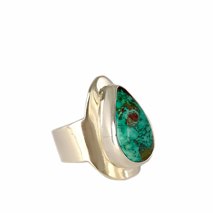 Monet Turquoise Oval M Ring