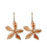 Duo Nerine Hammered AG/CU Drop Earrings