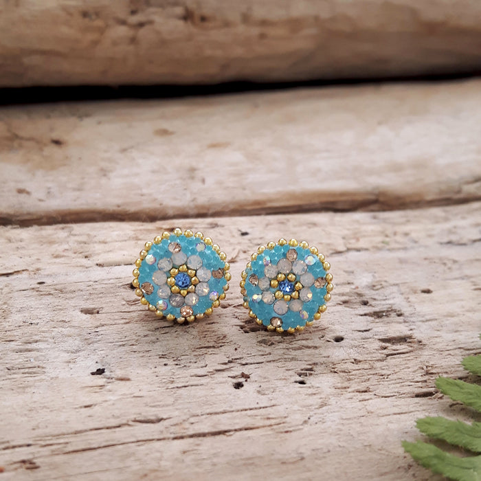 Allegra Daisy Dream TQ Stud Earring