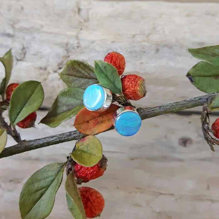 Flinder Turquoise Dotty Stud Earrings