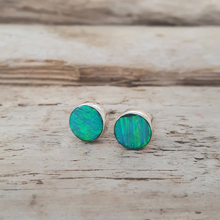 Flinder Green Dotty Stud Earrings