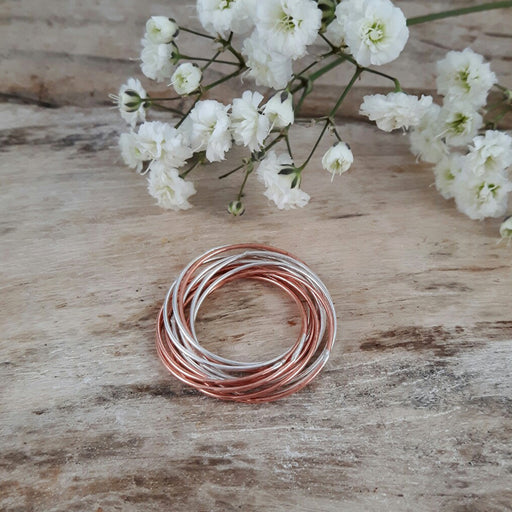 Duo Rita Silver Copper Ring