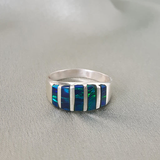 Flinder Nouveau Emerald Opal Ring