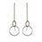 Olympia AG/CU Drop Chain Earrings