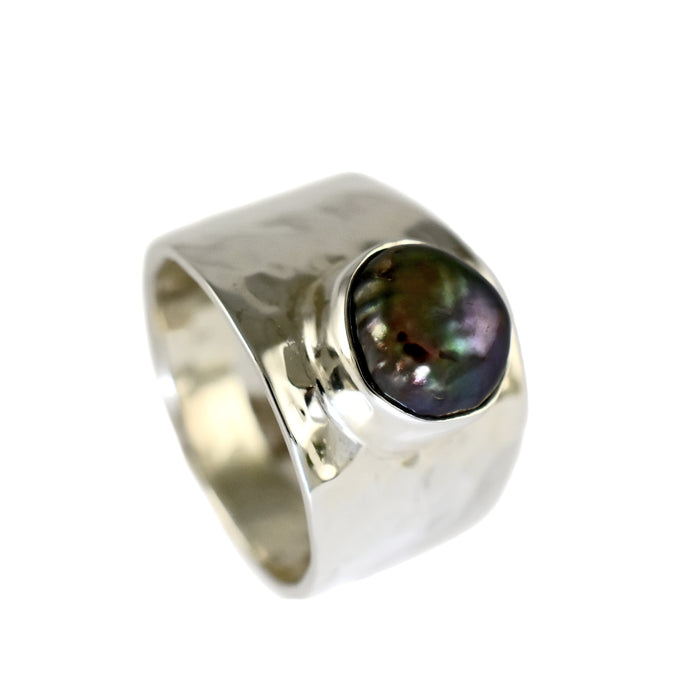 Oyster Grey Pearl Ring