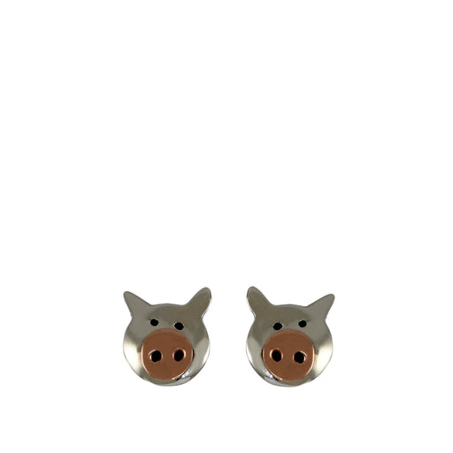 Duet Piglet AG/CU Stud Earrings