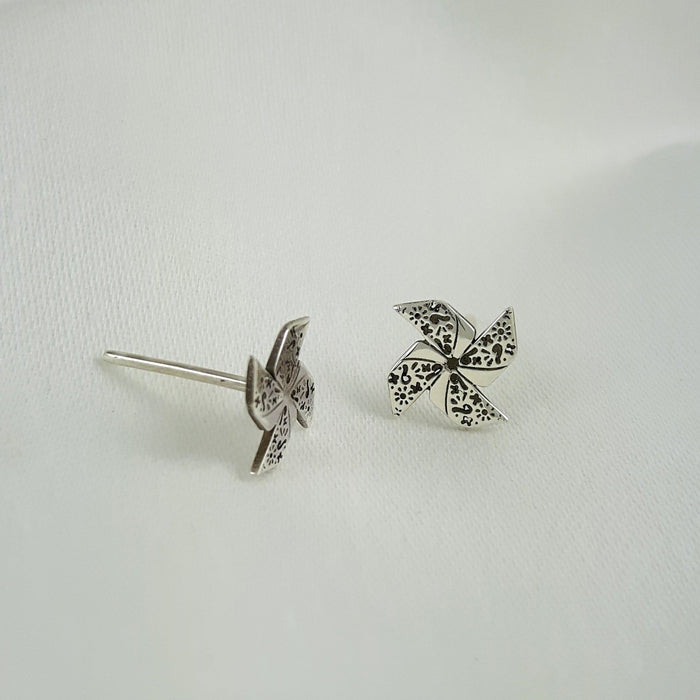 Pinwheel Stud Earrings