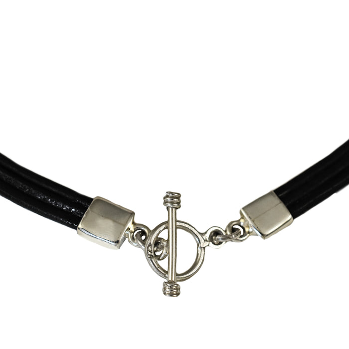 Rioja Leather Black 3 Necklace