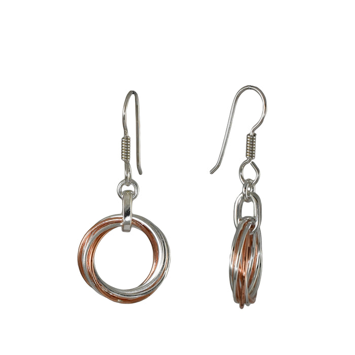Duo Rita Silver Copper Earrings