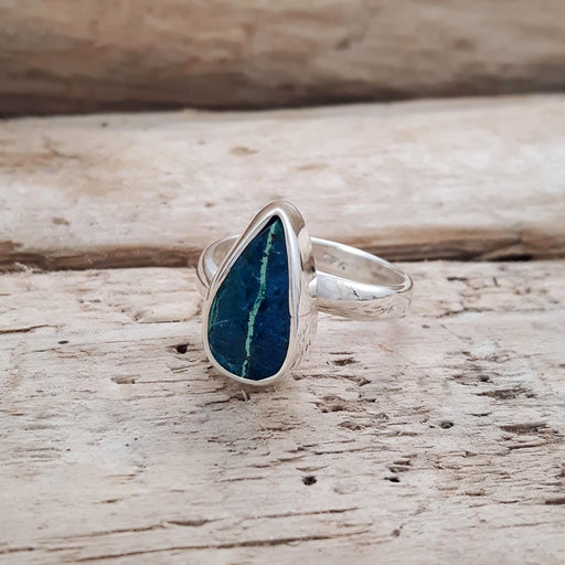 Rivera Turquoise Teardrop Adjustable Ring B