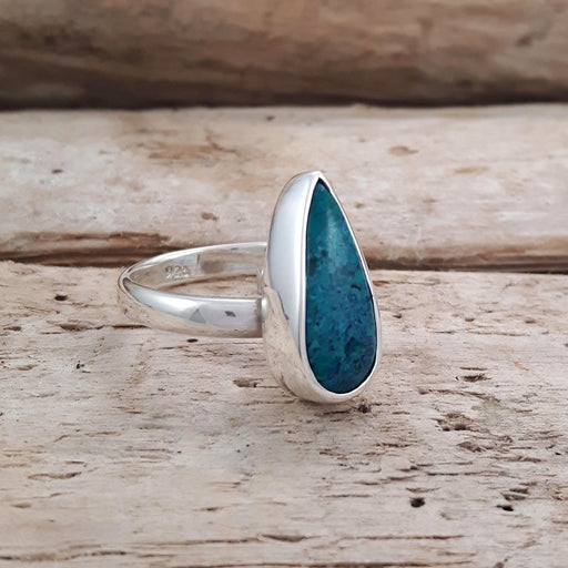 Rivera Turquoise Teardrop Adjustable Ring C