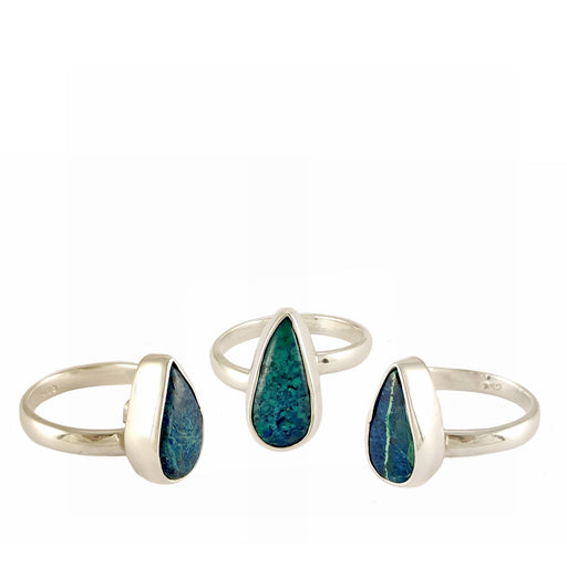 Rivera Turquoise Teardrop Adjustable Ring