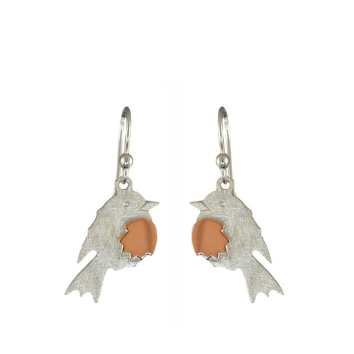 Duet Robin Silver/Copper Drop Earrings