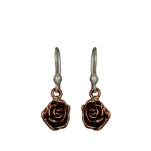Flora Rose Silver/Copper Drop Earrings