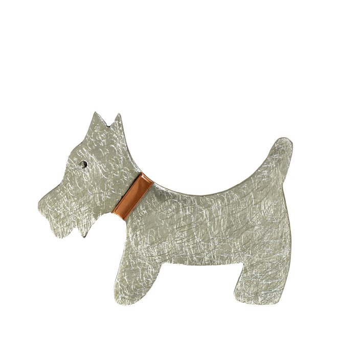 Duet Scottie Dog Brooch