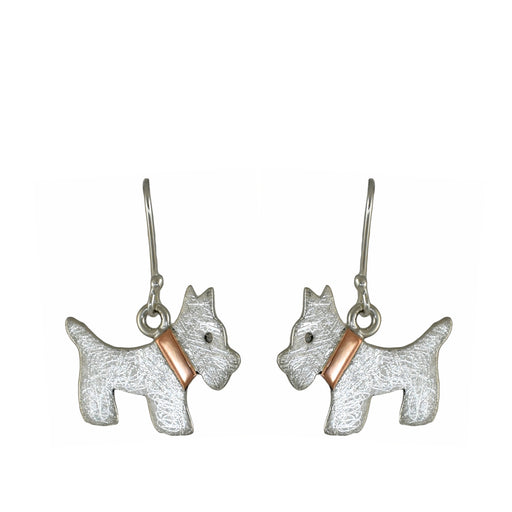 Duet Scottie Dog Drop Earrings
