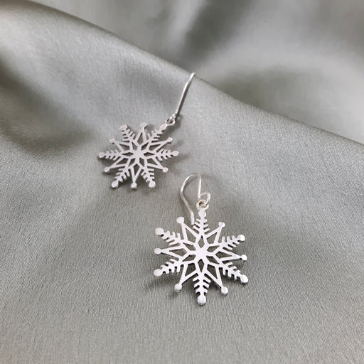 Snowflake Drop Earrings