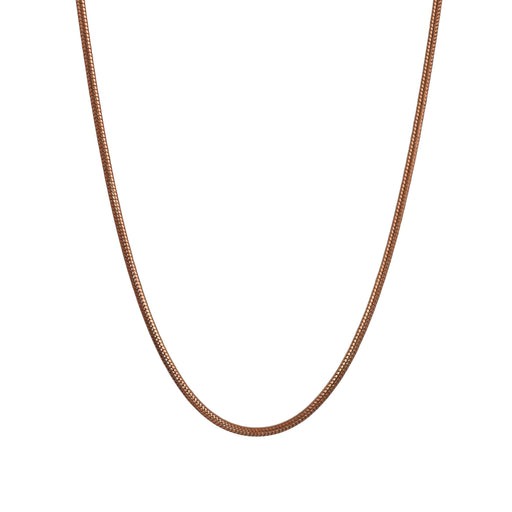 Tonda Matt Rose Gold 120 45cm Chain