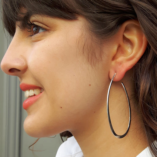 Toro Oval 6cm Hoop Earrings
