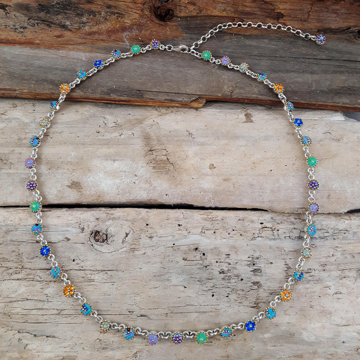 Allegra Chain Tutti Frutti Blue Dot Necklace