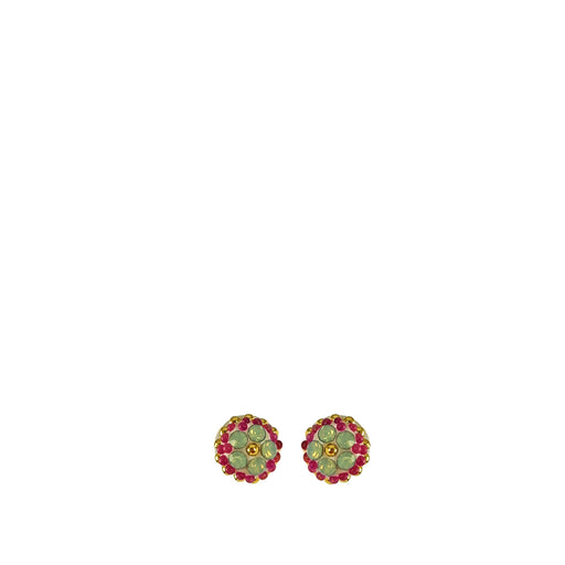 Allegra Pink Tiny Tutti Frutti Stud Earrings