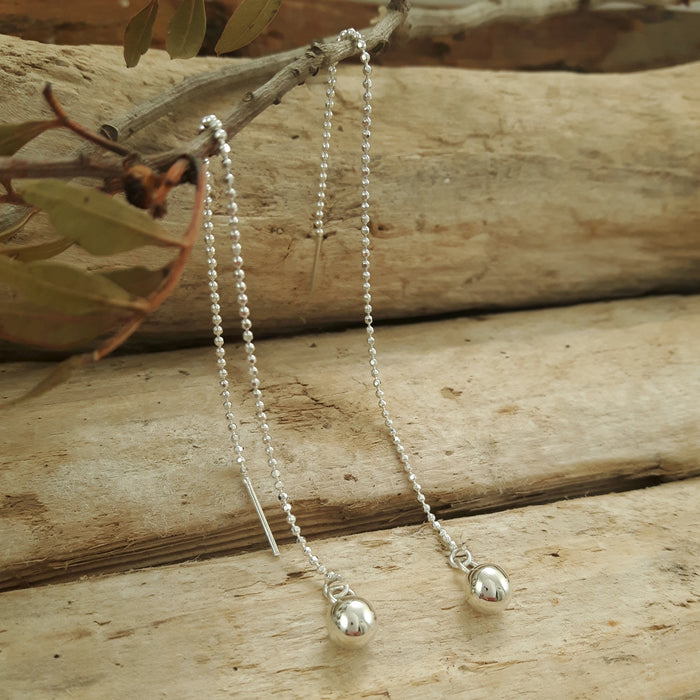 Verity Chain Ball Threader Earrings