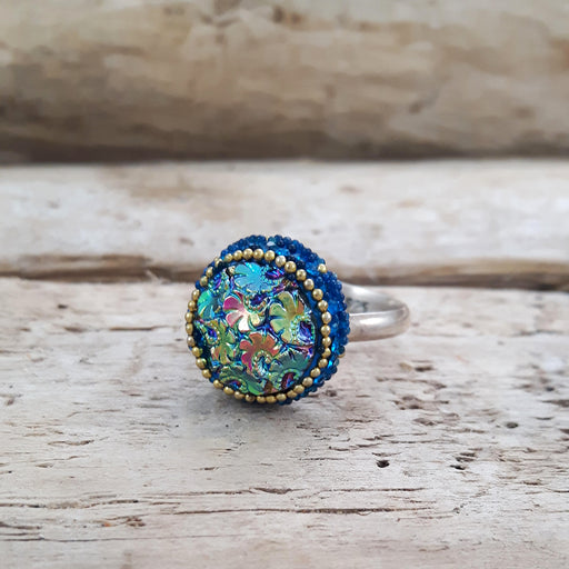 Allegra Victoria Teal Ring