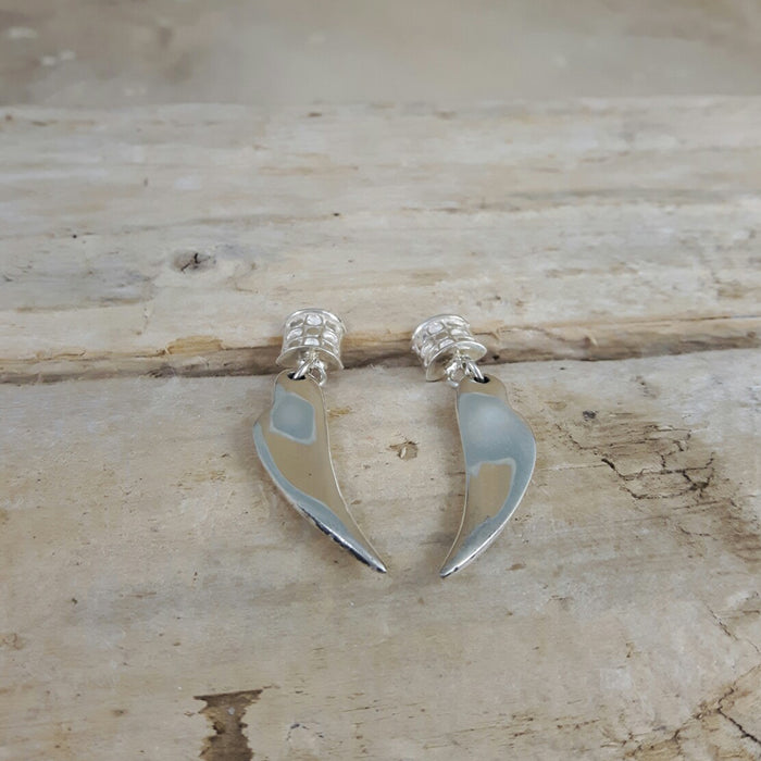 Vita Heart Stud Drop Earrings