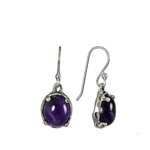 Yulya Amethyst Drop Earrings