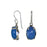 Yulya Blue Chalcedony Drop Earrings