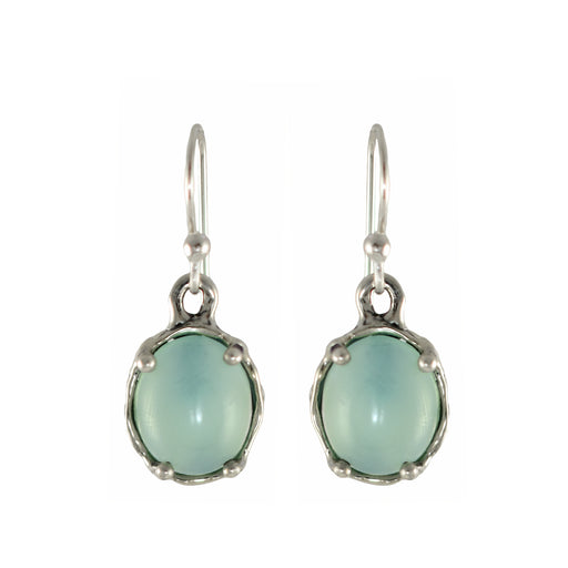 Yulya Chalcedony Drop Earrings