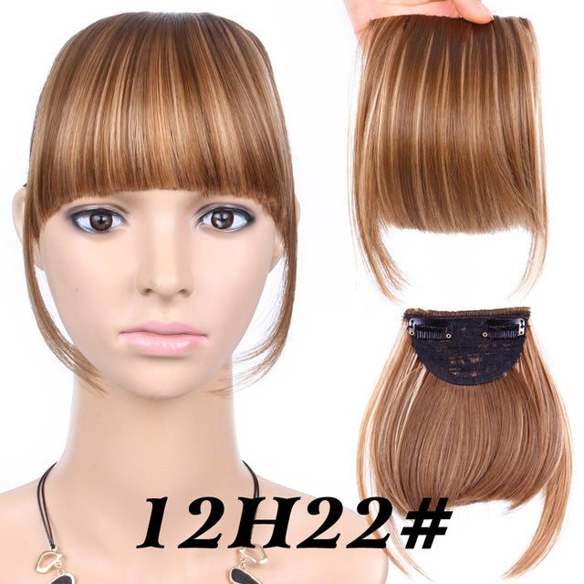 Synthetic Hair Alileader Neat Front Clip In Hair Bang Extensions