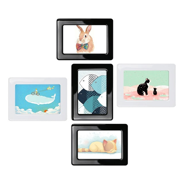 Photo Frames - Wall Sticker Magnetic Photo Picture Frames Wall Decor ...
