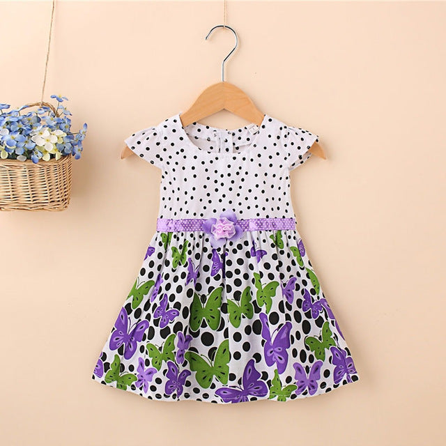 2018 Summer Newborn Baby Girl Clothes Brand Cotton Butterfly Dresses