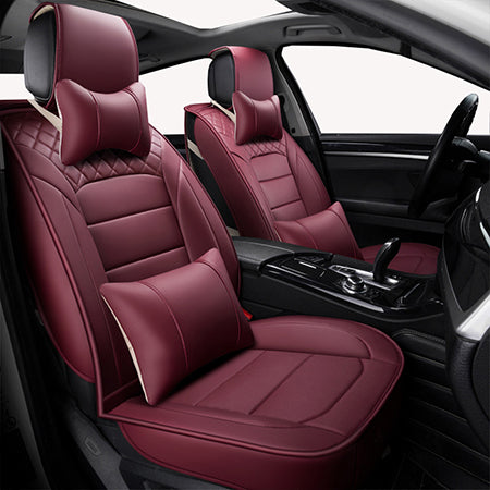 Front Rear Universal Leather Car Seat Covers For Chevrolet Aveo T250 T300 Cruze