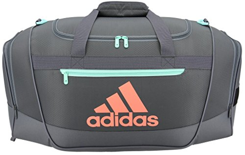 c1f9be34774a Authentic Adidas Defender III Duffel Bag - Small   Green Chalk Coral